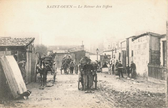 Ancienne Photo des marchés aux puces ( Old Picture of the flea market )